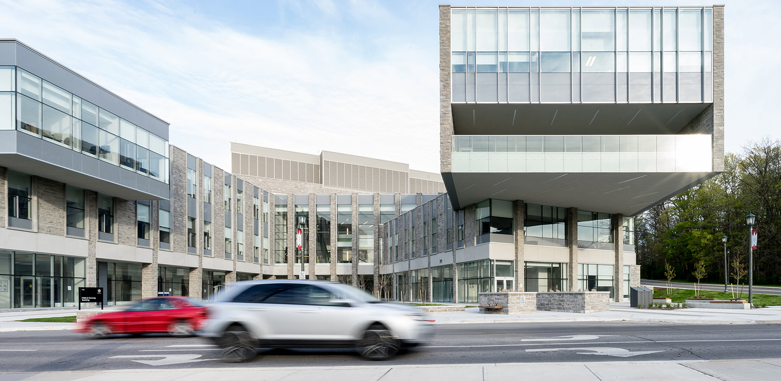 Exterior Architecture Photography of the Fims & Nursing Building by Scott Webb photography