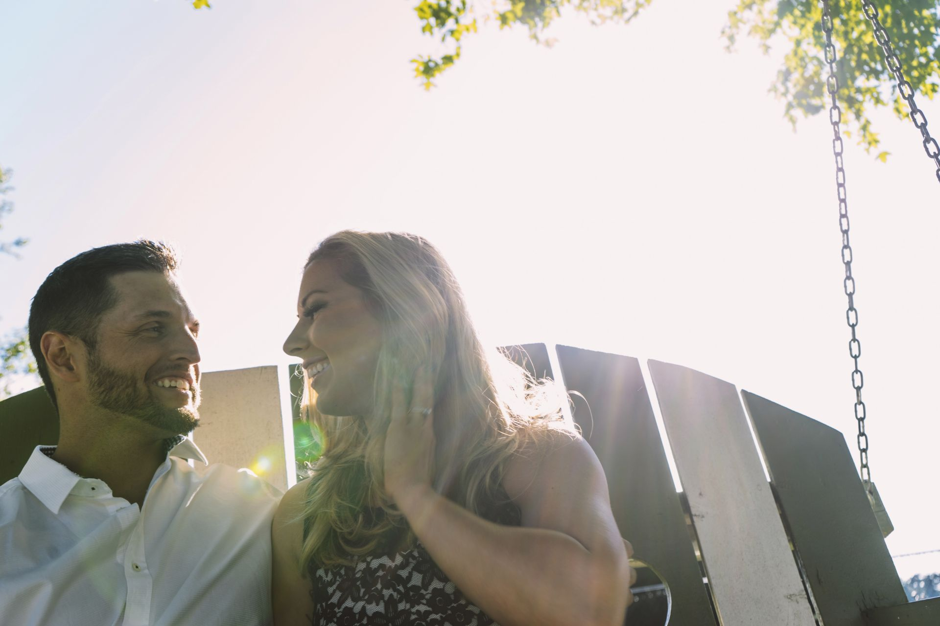 Engagement Photography and Shooting into the Sun