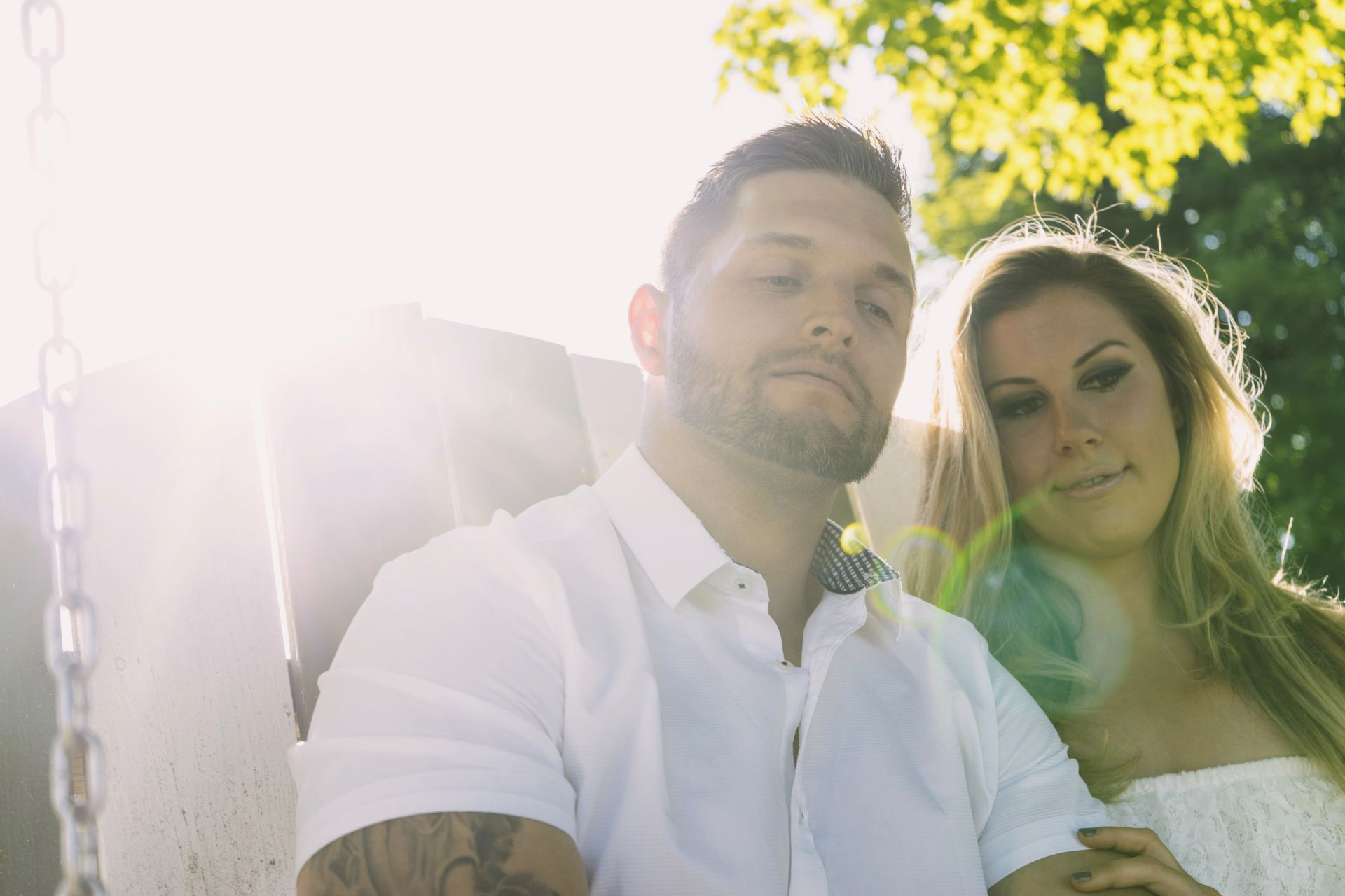 Shooting into the Sun during Engagement Photography