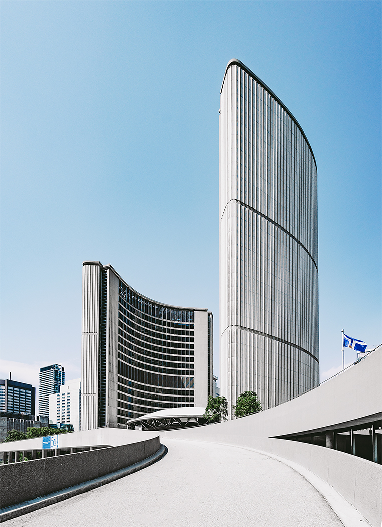 Toronto Architecture Photography at City Hall going up to the Green Roof