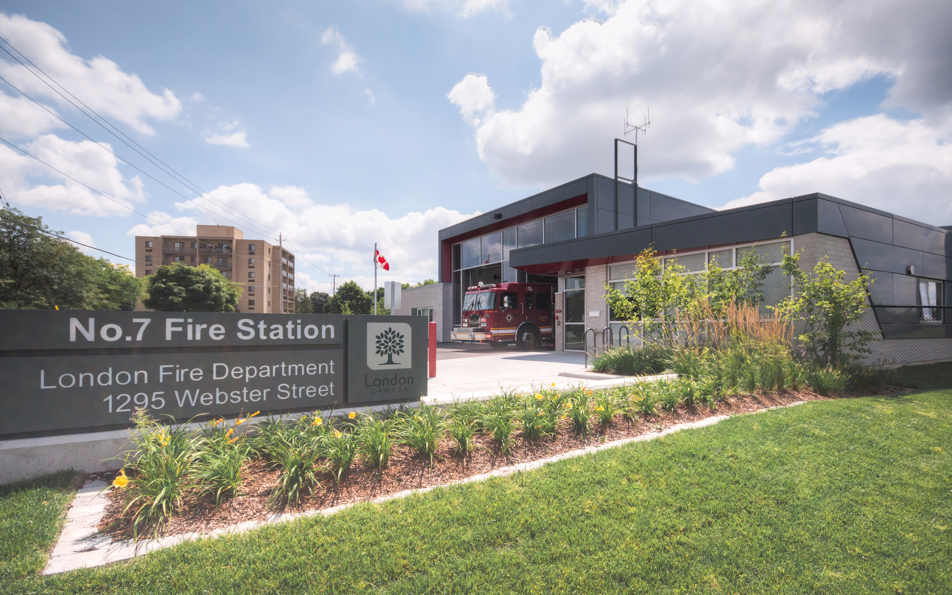 Architectural Photography by Scott Webb of Fire Station 7 in London Ontario Canada