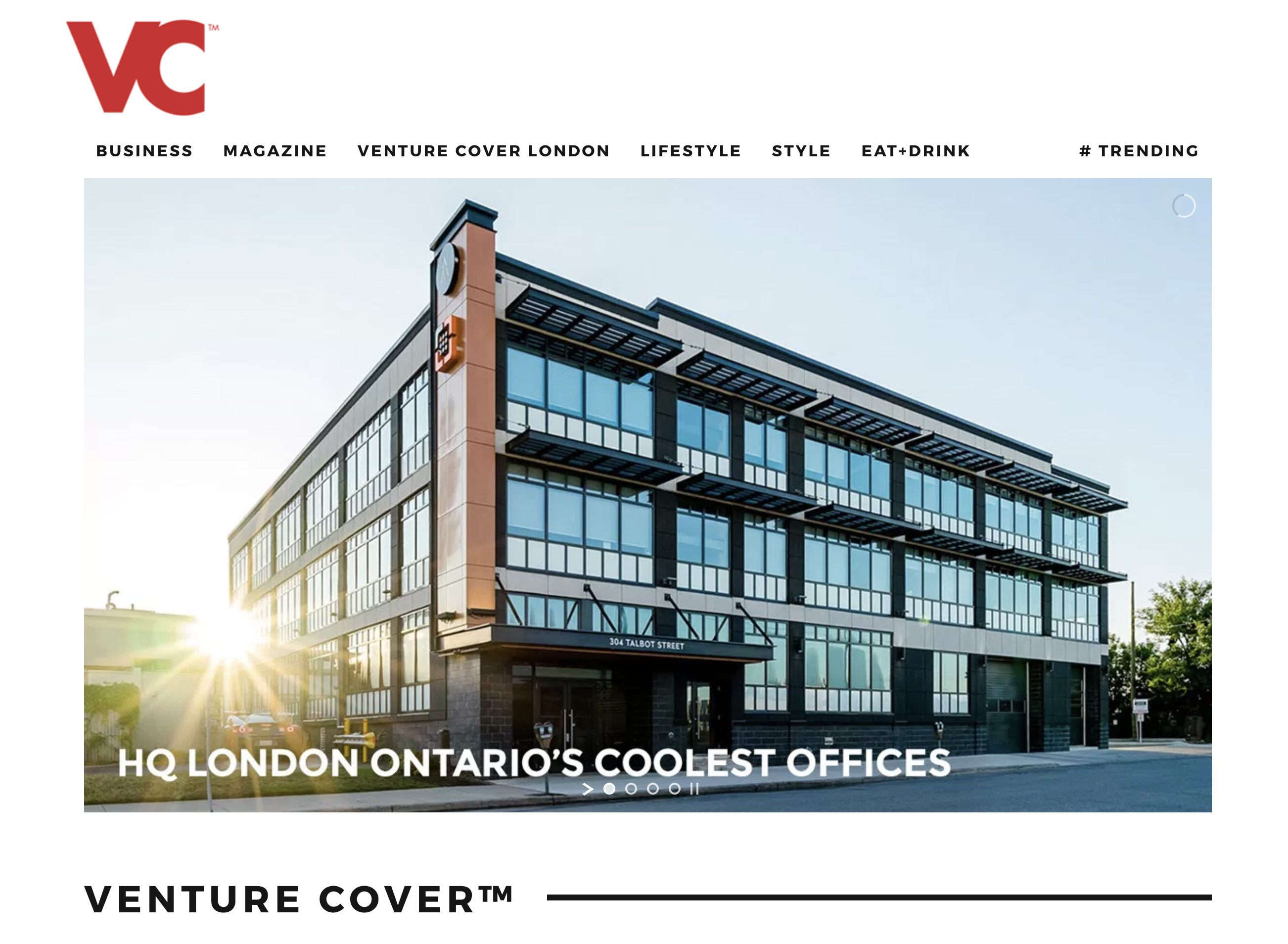 The Cube - Scott Webb Photography on Venture Cover Homepage