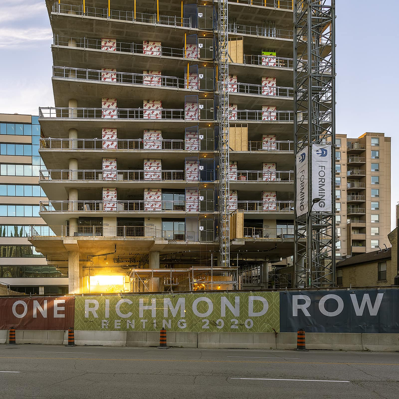 Construction Photo of One Richmond Row in Downtown London as of October 2019 by Scott Webb Photography