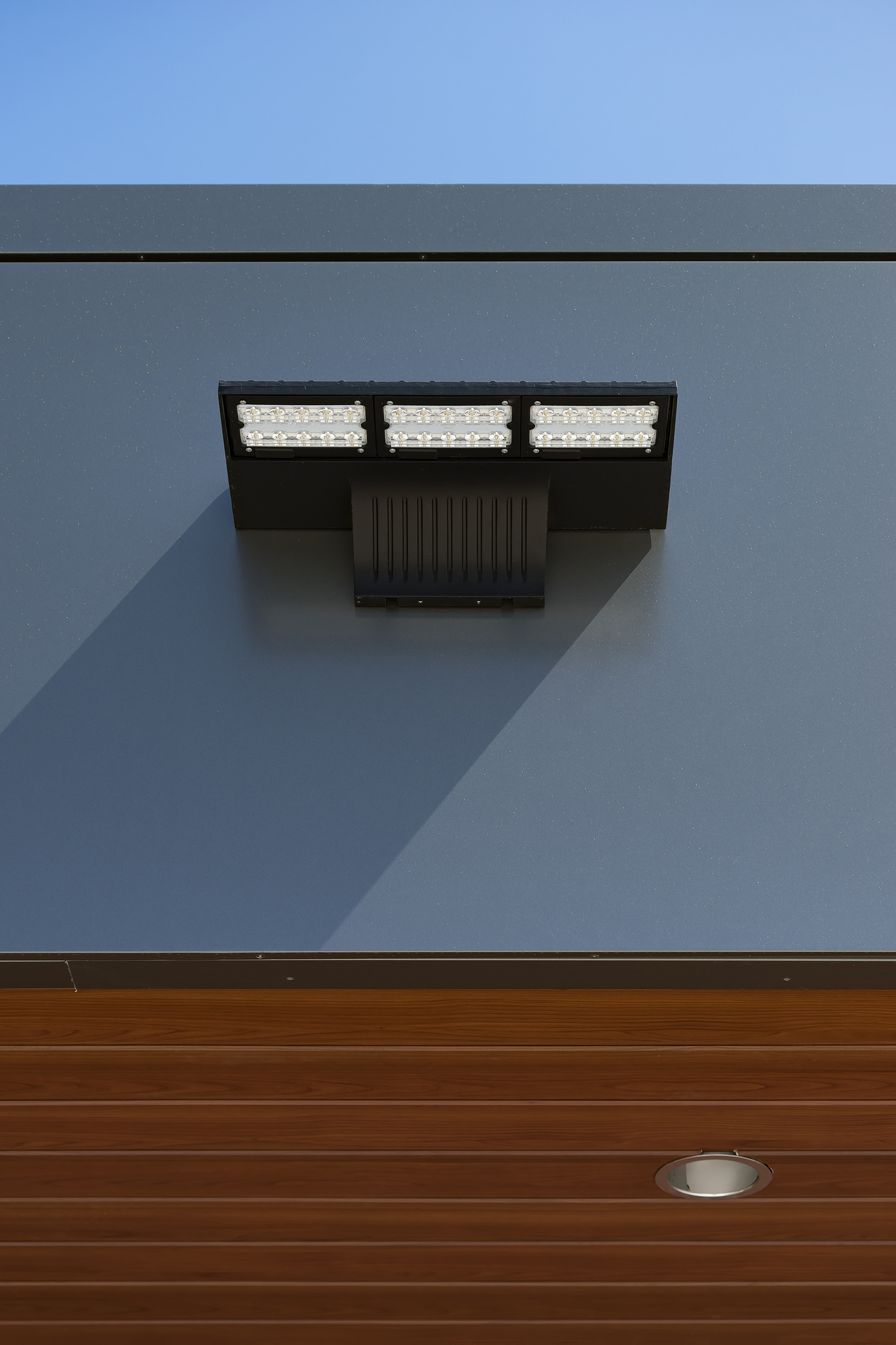 Detail of Lighting and materials - No.11 Fire Station