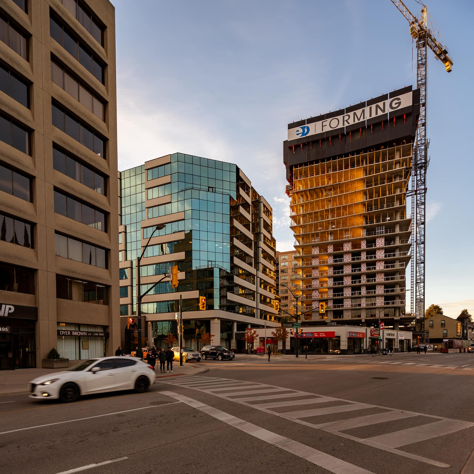 looking towards Old Oak development tower from intersection