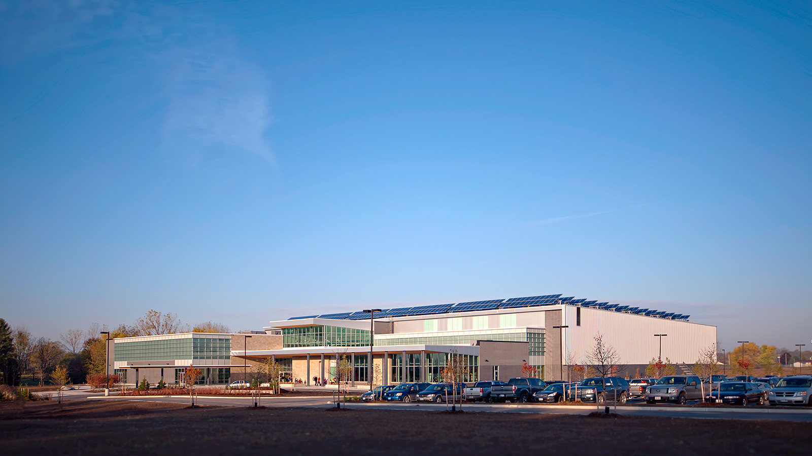 Exterior Architectural Photography of Komoka Recreation and Wellness Centre