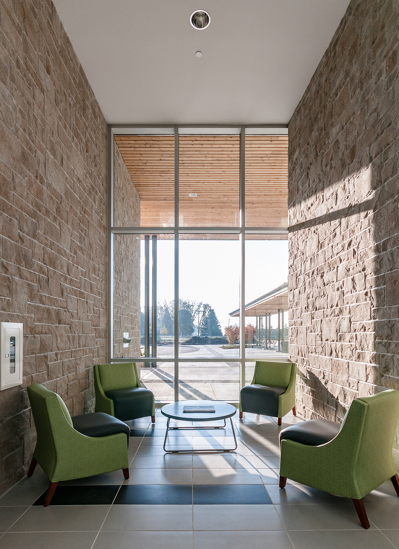 Seating Area and Floor to Ceiling Windows - Interior Photographer Scott Webb