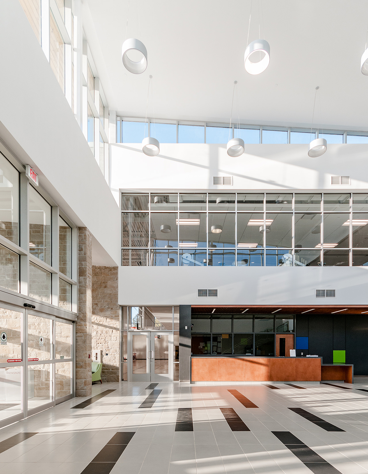 Komoka Recreation and Wellness Centre Atrium Photo shot by Scott Webb