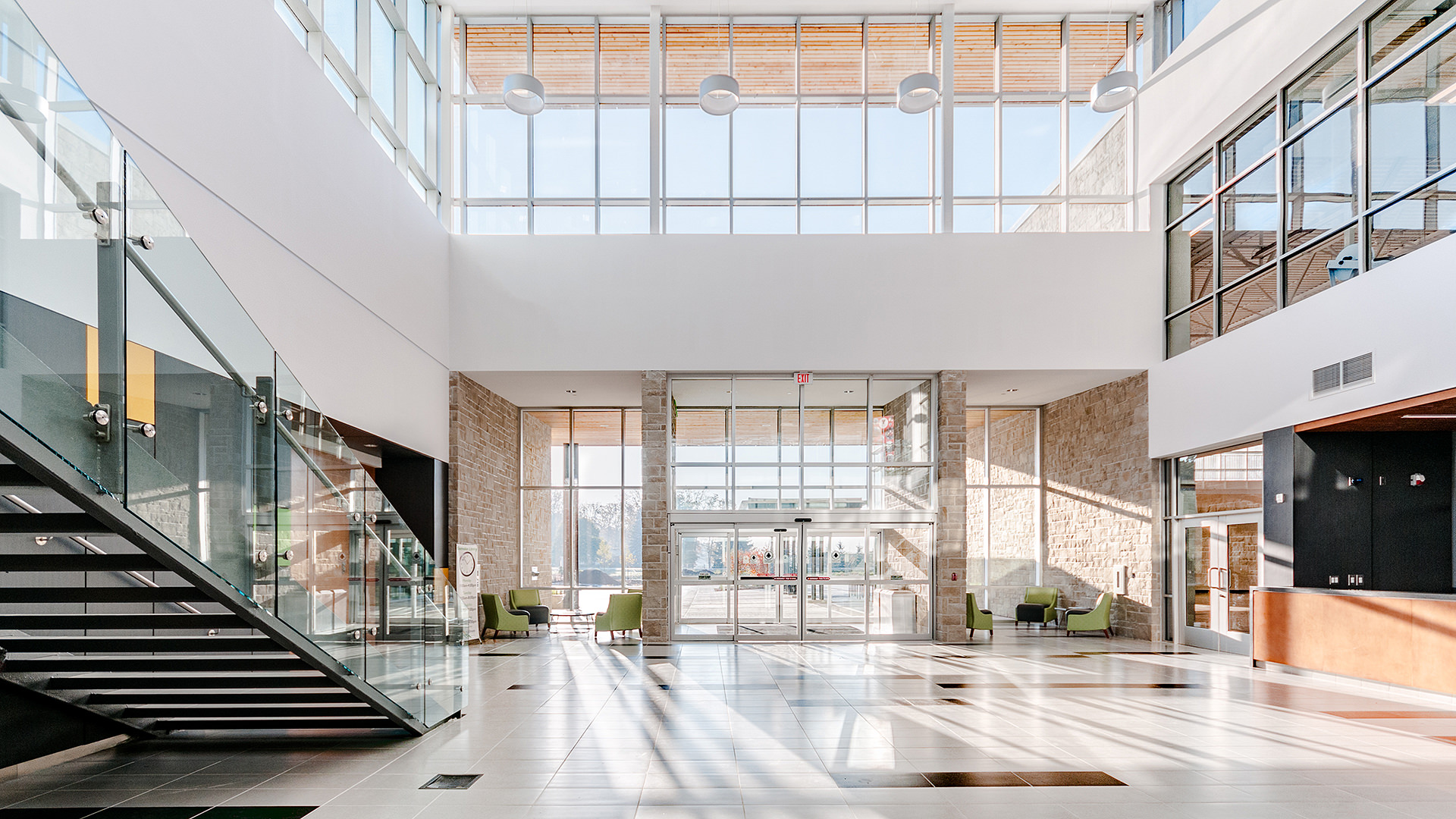 Atrium of Komoka Community Wellness Centre
