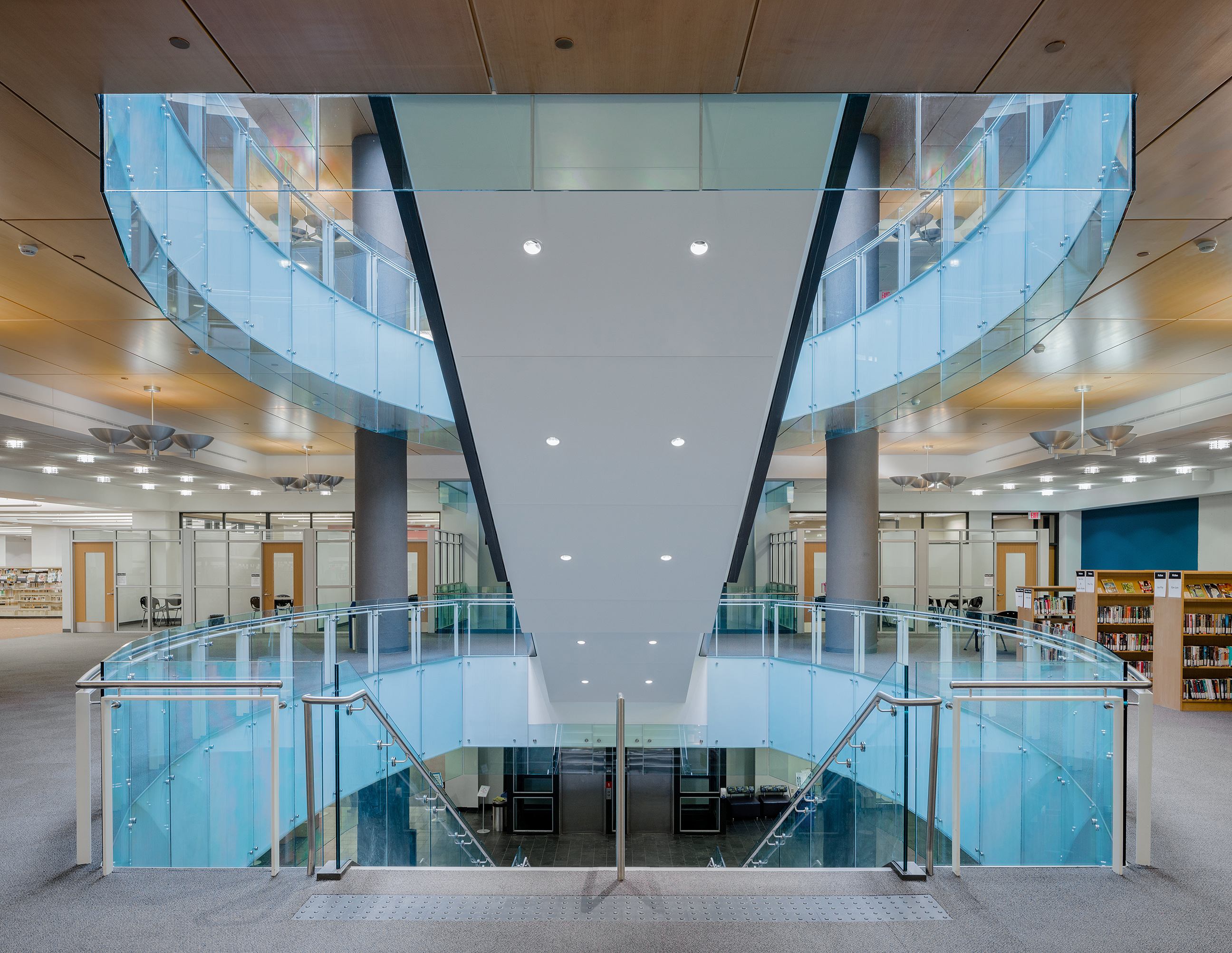 Interior photography of London Public Library by architectural photographer Scott Webb