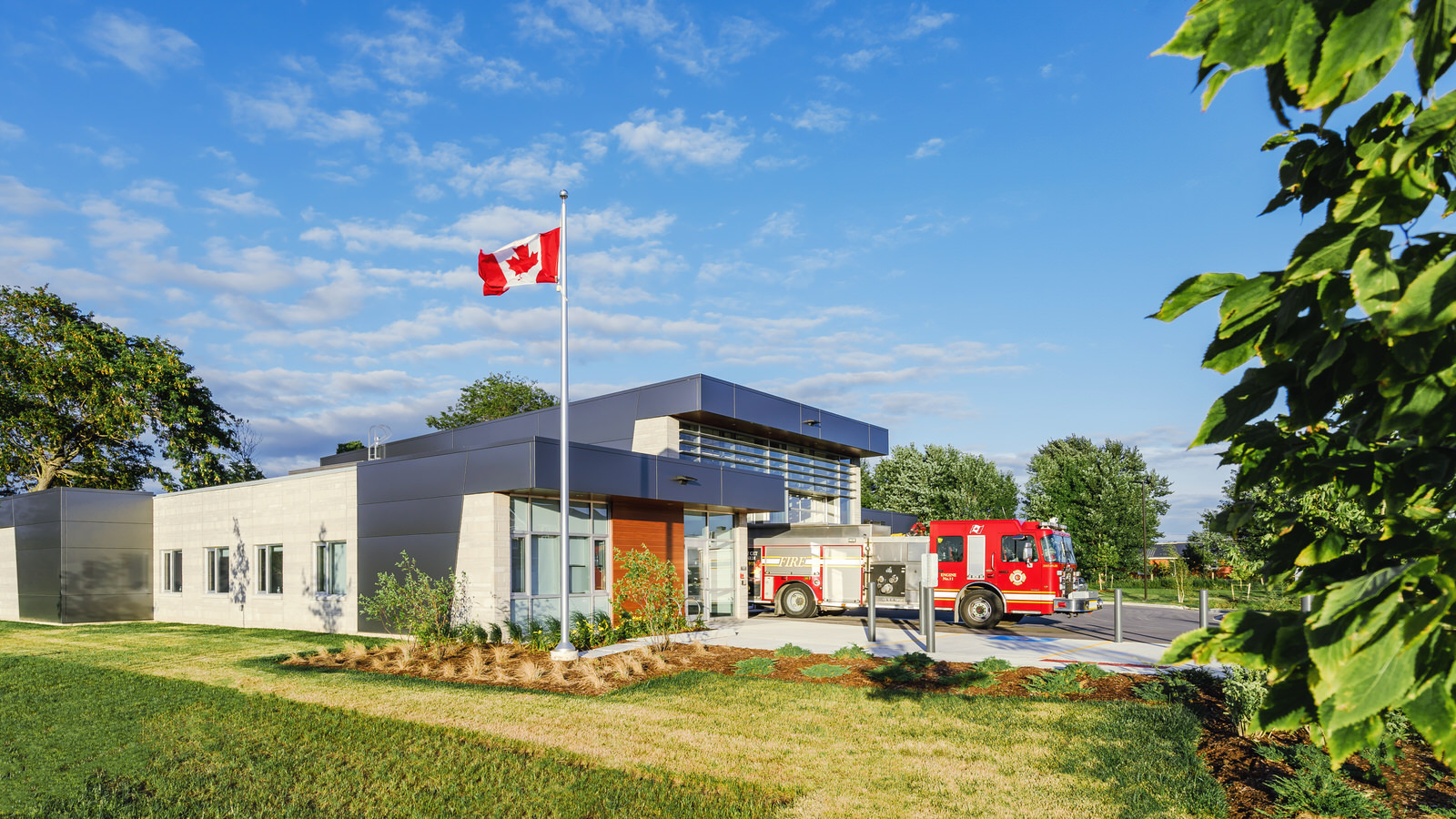 Architecture photography of the No.11 Fire Station in London, Ontario