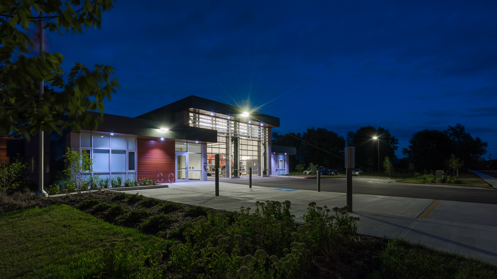 Blue Hour Architecture photo of fire station on Savoy Street London Ontario