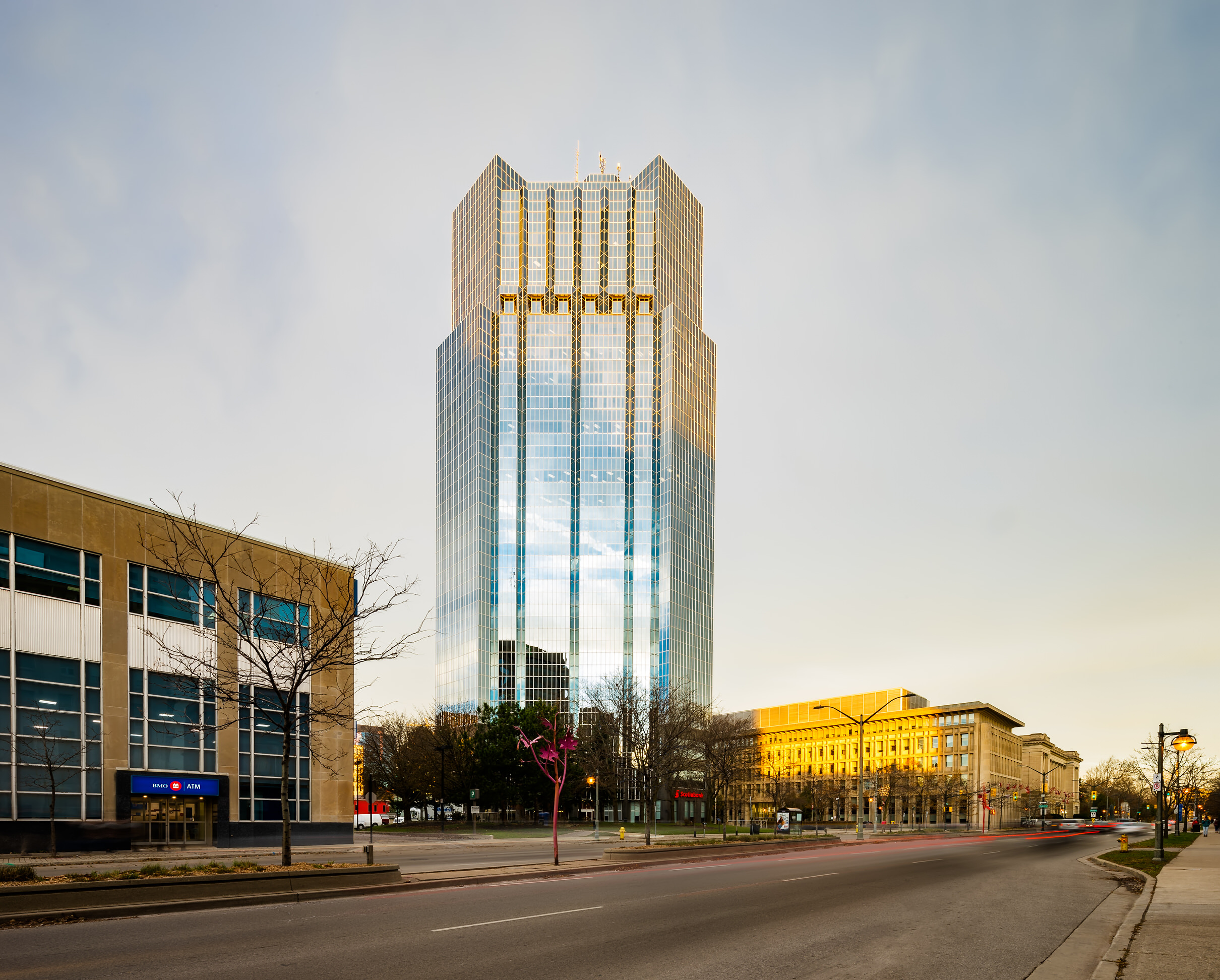One London Place photographed by Scott Webb Photography at sunrise in 2017