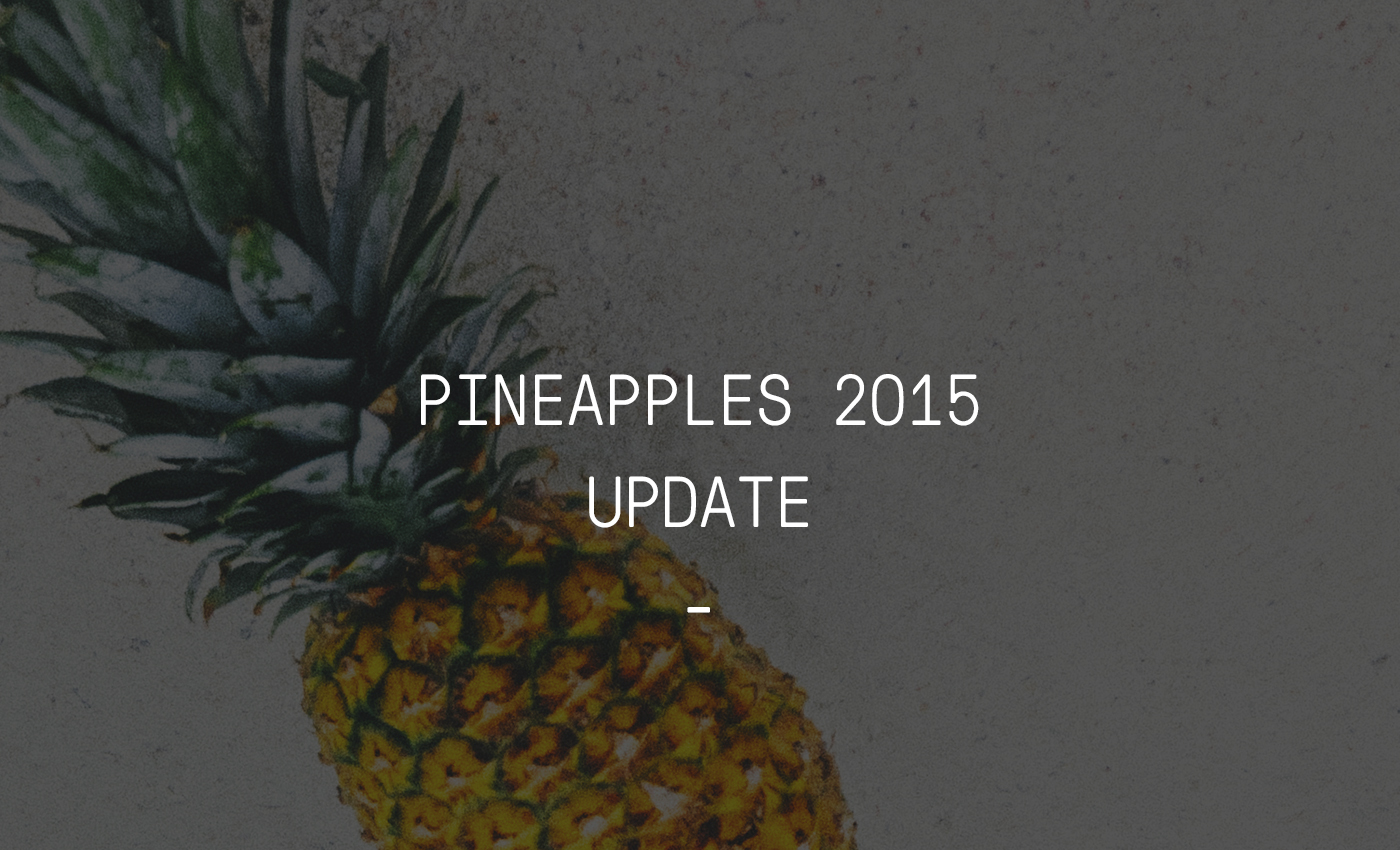 pineapples 2015 update