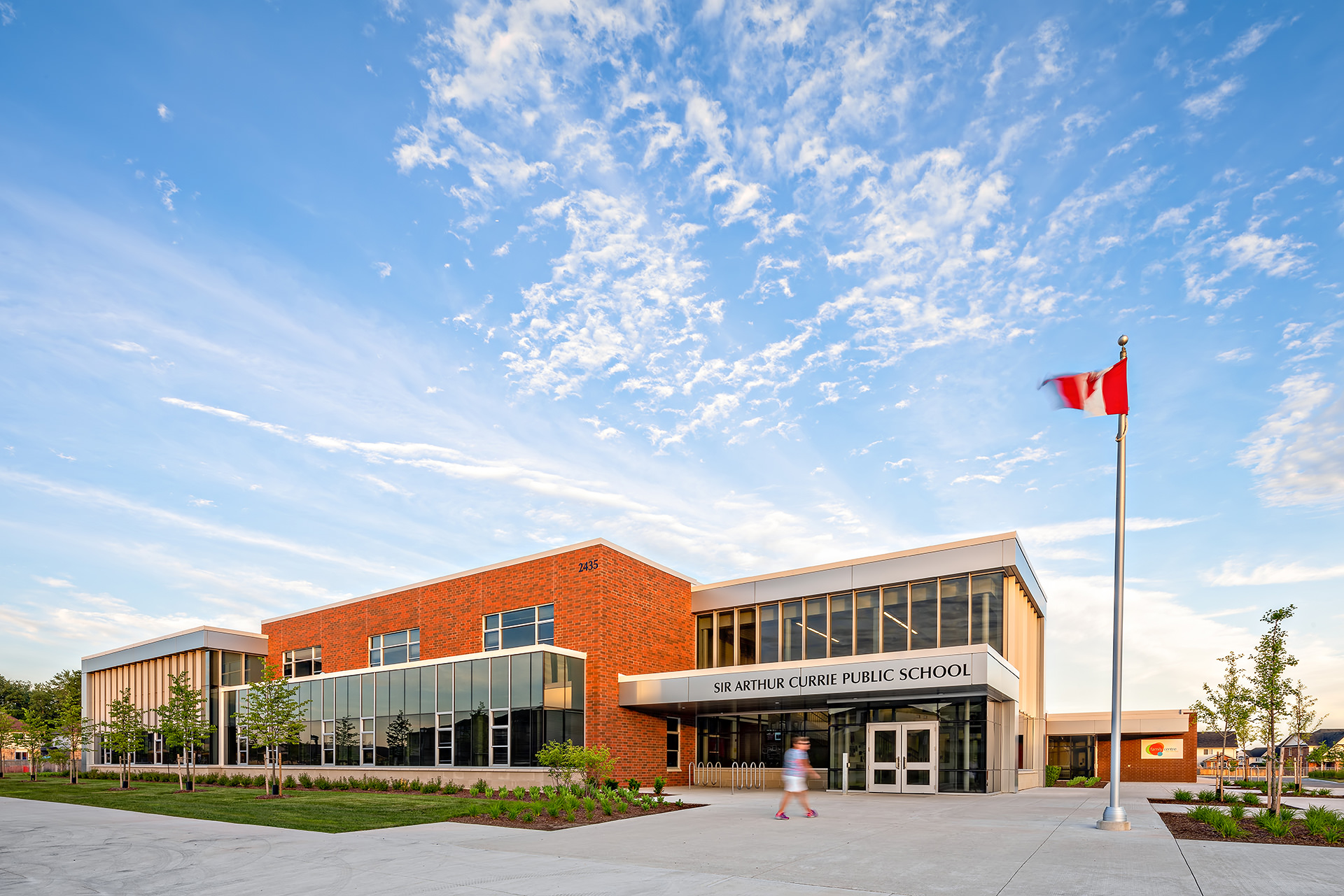 exterior Photography for Spring 2018 at Sir Arthur Currie in London, Ontario