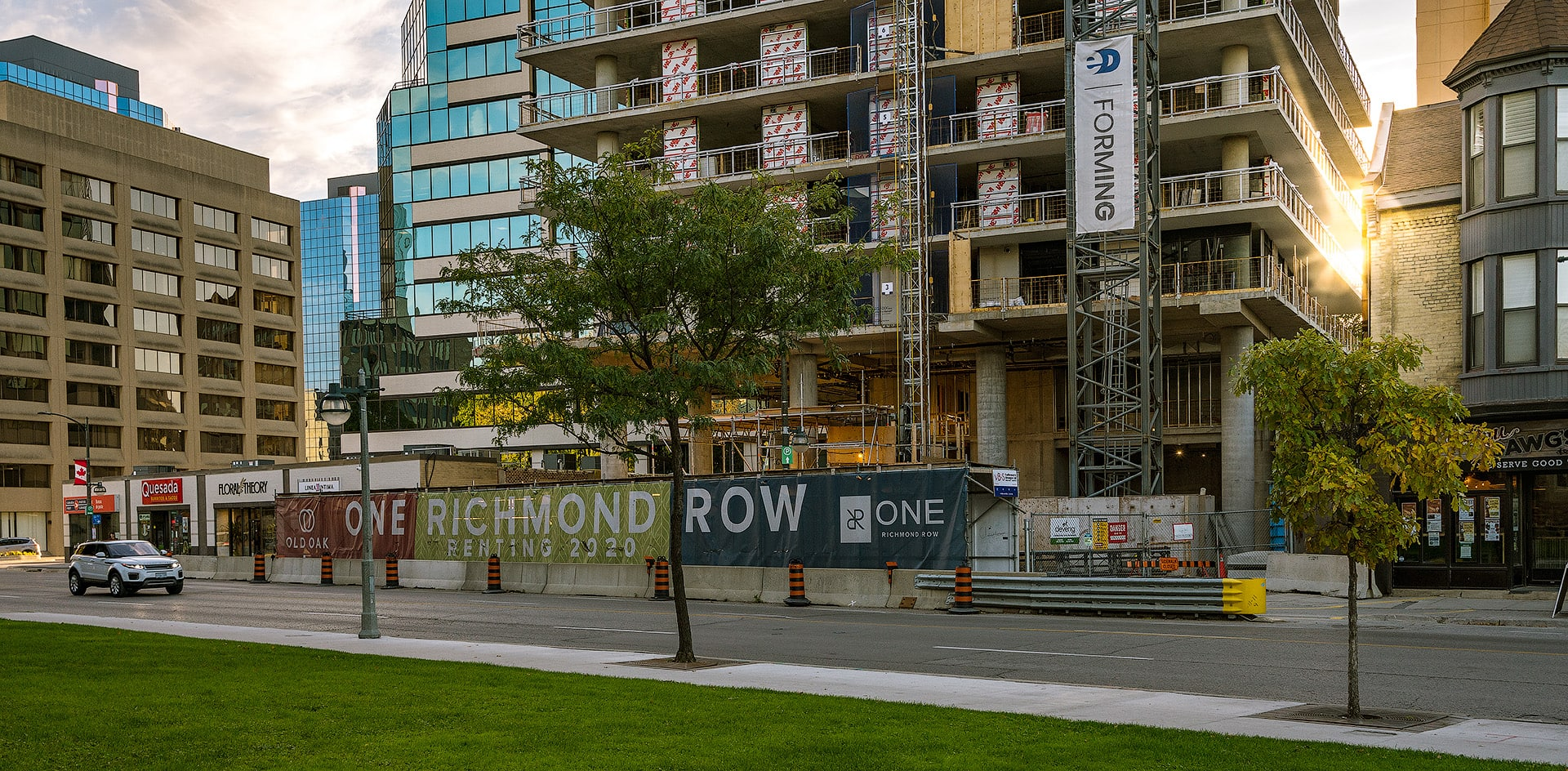 Streetscape of construction on Richmond Street in Downtown London as of Autumn 2019 by Scott Webb